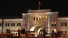 Bab Al- Bahrain Souk Gate at night, Manama 03 - Time lapse Stock Footage