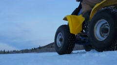 Little 4wheeler in the snow Stock Footage