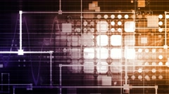 Technology Background as a Digital Abstract Art Stock Footage