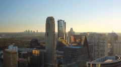Atlanta Aerial over Buckhead Stock Footage