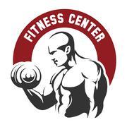 Fitness center or gym emblem Piirros