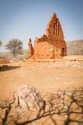 Old Palapye Church Botswana - stock photo