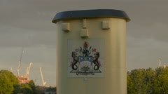 Stock Video Footage of Coat of arms on a boat funnel in London