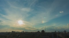 City Sunset 5 without birds and destructive color correction in ProRes Stock Footage
