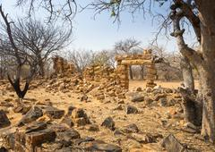 Old Palapye Ruins Botswana - stock photo