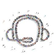 People  shape  consultant icon Stock Illustration
