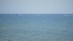 Activities In The Sea Water Stock Footage
