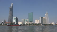 Downtown Ho Chi Minh City, major metropolis in Southeast Asia Stock Footage