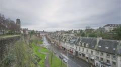 Saint-Lo, France - Timelapse  - Rue Torteron - stock footage