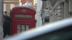 Telephone booth in London Stock Footage