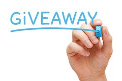 Giveaway Blue Marker - stock photo