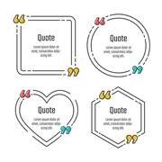 Stock Illustration of Quote blank template