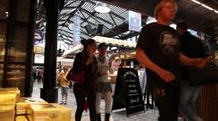 Tel Aviv Sarona Market Stock Footage