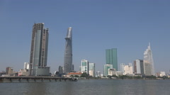 Fast growing metropolis Ho Chi Minh City in Southeast Asia Stock Footage