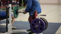 Competitions on powerlifting. Bench press lying. No lift Stock Footage