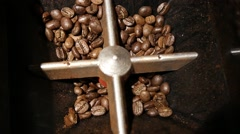 Coffee beans grinder with audio Stock Footage