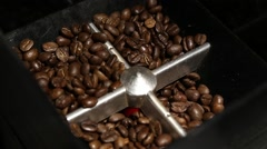 Coffee beans commercial grinder with audio Stock Footage