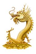 Dragon Isolated on White, With Clipping Path - stock photo