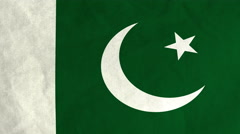 Pakistani flag waving in the wind (full frame footage) Stock Footage