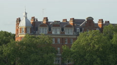 The Royal Court Theatre building with roof windows in London Stock Footage