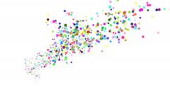 Shooting funnel of random confetti dots Stock Footage