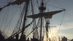Stock Video Footage of Ancient ship mast