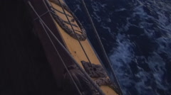The old frigate among the Mediterranean - stock footage