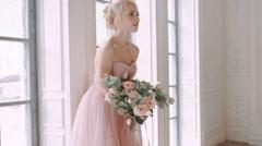 Beautiful bride. - stock footage