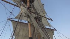 Rig frigate Standart Stock Footage