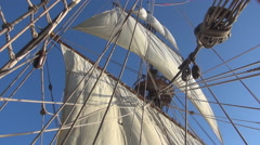 Sail full of wind Stock Footage