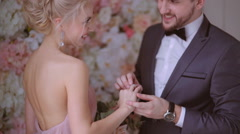 Bride and groom. Stock Footage