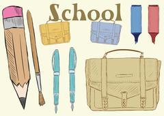 School clipart - stock illustration