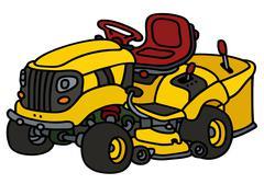 Yellow garden lawn mower Stock Illustration
