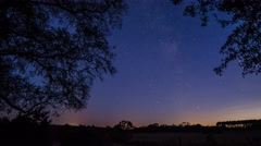 Day to Night Daylight to Stars Astro Time Lapse Rural Suffolk England - stock footage