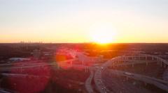 Atlanta Aerial over Spaghetti Junction freeways Stock Footage