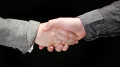 Business Greeting Handshake 2 Stock Footage