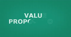 Drawing a word VALUE PROPOSITIONS - stock footage