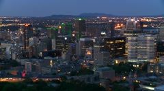 Downtown Montreal evening 5 Canada Stock Footage