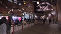 Visiting the Children's Christmas Market in Nuremberg Stock Footage