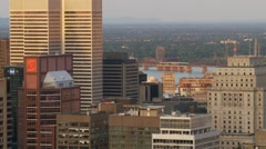 Downtown Montreal evening 1 Canada Stock Footage