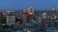 Downtown Montreal evening 3 Canada Stock Footage