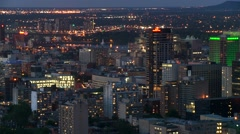Downtown Montreal evening 6 Canada Stock Footage