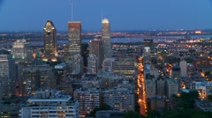 Downtown Montreal evening 2 Canada Stock Footage