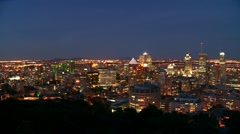 Downtown Montreal evening 11 Canada Stock Footage