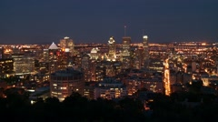 Downtown Montreal evening 12 Canada Stock Footage