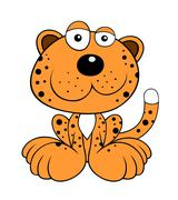 Leopard - stock illustration