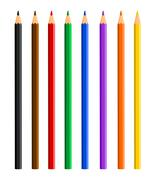 Color pencils - stock illustration