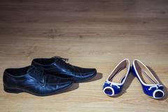 women's and men's shoes - stock photo
