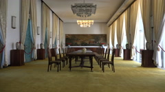 Dining hall in the Independence Palace in Saigon, Vietnam - stock footage