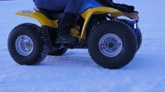 Lower thirds 4wheeler wheels - stock footage